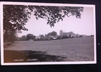 Early Real Photo Postcard Malpas Church And Village Cheshire Unposted