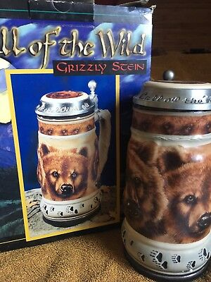 NIB Bud Stein Grizzly Bear lidded Budweiser Call of the Wild Series