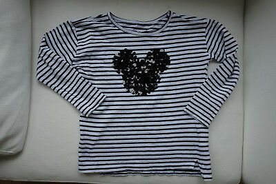 ♛  Shirt Mickey Mouse 116 Reserved Disney Pailletten ♛
