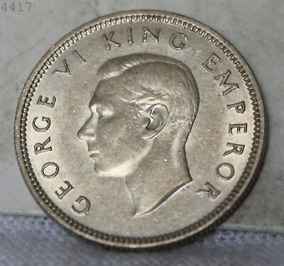 """1937 *Silver* New Zealand 1 Shilling """"UNC"""" *Free S/H After 1st Item*"""