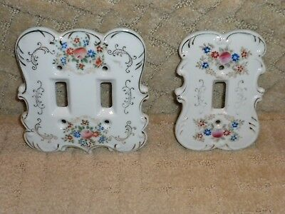 Arnart Hand Painted Porcelain Light Switch Plate Cover Single Double Victorian