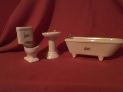 12th scale bathroom set and bedroom for dolls house please look at photos to see