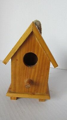 """Wood Paint Your Own Birdhouse w/Rope Hanger ~ 5.5"""" High x 3.5"""" Wide ~ Craft"""
