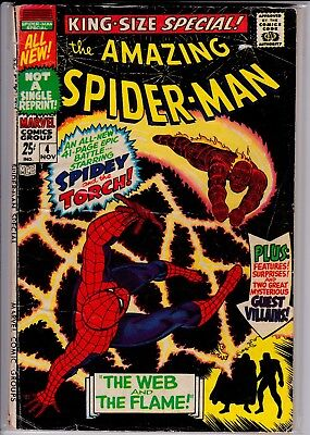 Amazing Spider-Man Special(Annual) #4 vs Human Torch GD No Reprints