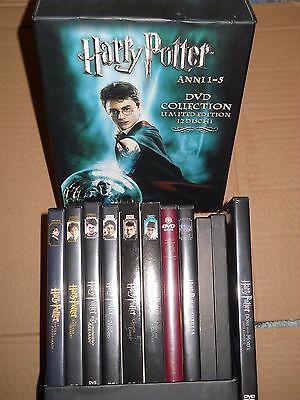 HARRY POTTER COLLECTION BOX LIMITED DVD saga completa TUTTI I FILM ENTRA X DETT