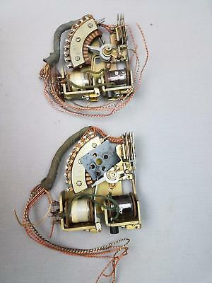 2 pc lot Vtg HTF Telephone Switchboard 204E Circuit Rotary Stepping Relay Switch
