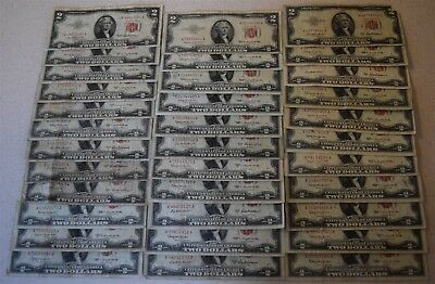 Dealer lot $119 Face US Notes and Silver Certificates *Free S/H After 1st Item*