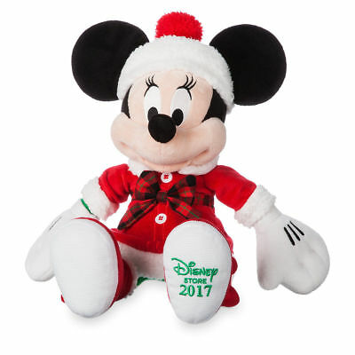 Disney Store 2017 Holiday Christmas Minnie Mouse Magic Plush ~ New with Tags