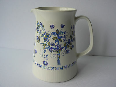 Figgjo Flint Turi-Design Lotte Handpainted Silkscreen Jug Pitcher Ewer Norway
