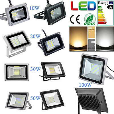 10/20/30/50W/100W LED SMD Waterproof Cool/Warm Flood Light IP65 Wall Lamp 220V