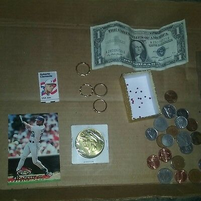 junk drawer coins real ruby's 1.5-2mm, est 26  retail$200.10krosegold ring,stone