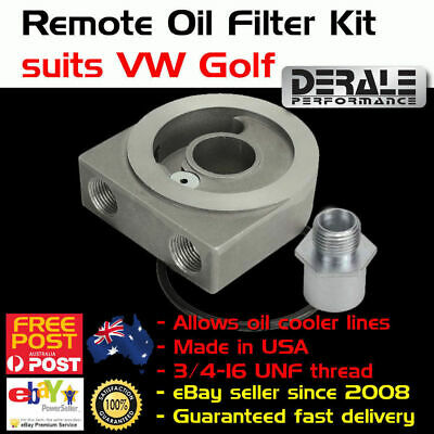 New VW Golf Oil Filter Adaptor Adapter Spin on Sandwich Plate Cooler 3/8 NPT