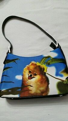 Pomeranian Dog Tropical Themed Embellished Handbag