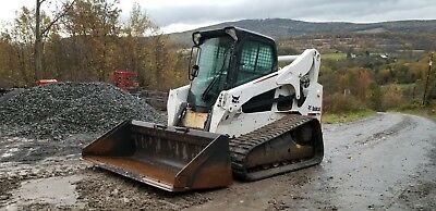 2013 Bobcat T770 Track Skid Steer Low Hours Sjc Pilot New Tracks Cab A/c Nice!
