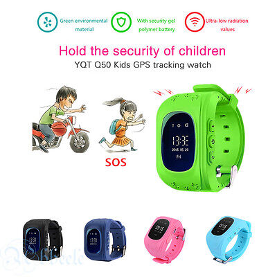 Q50 Kid GPS Tracker SOS Call Children Smart Watch For Android IOS iPhone 5 Color
