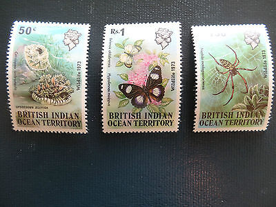 British Indian Ocean Territory  1973   SG53-55  Set  MNH
