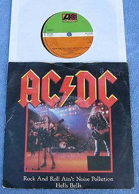 """AC/DC  - Rock And Roll Ain't Noise Pollution -  UK Picture Sleeve 45 rpm PS 7"""""""