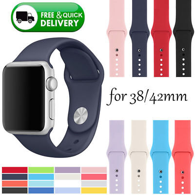 New Replacement Silicone Sports Strap For Apple Watch Band 38/42Mm Series 3/2/1