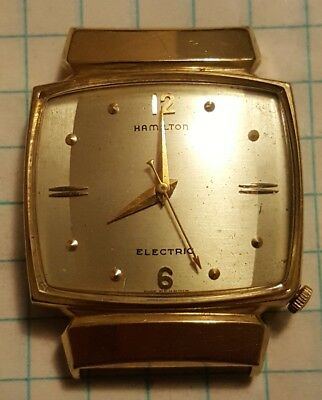 BEAUTIFUL Vintage Hamilton Electric 500 Mens 10k Yellow Gold Filled Wrist Watch