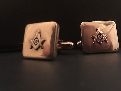 Vintage Masonic Cuff Links