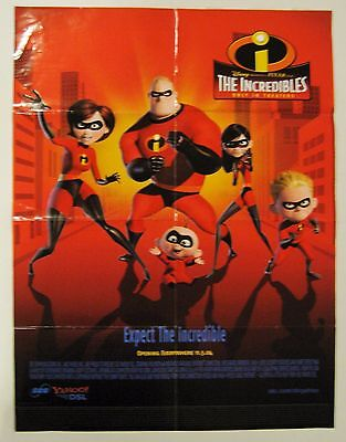 """SBC/Yahoo!DSL Advertising Poster Based on Disney's Movie, """"The Incredibles"""" 2004"""