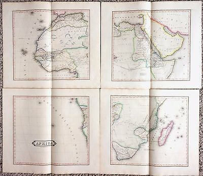 HUGE Antique AFRICA Map 1831 Rare Four-Sheet Edinburgh 38x44 Fine Engraved