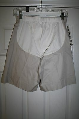 """BABY & ME Women Cotton Blend Maternity Shorts Beige Size Small 5.5"""" Ins NWT"""