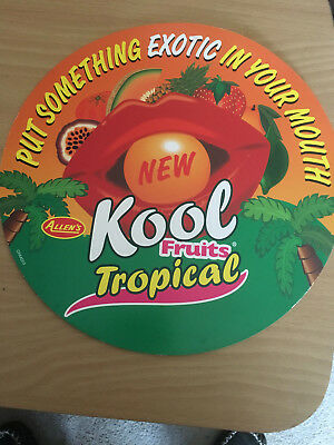 Allen's  Confectionery Advertising Card~~Koolfruits ~~Large