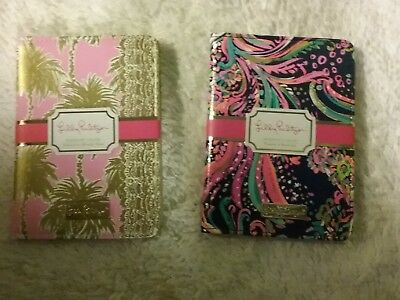 Lilly Pulitzer New With Tags Passport Holders In Metallic Palms & Beach Loot