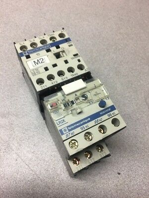 Telemecanique LC1K0610 Contactor 50/60Hz 600V 20A with LR2K0306 Overload Relay