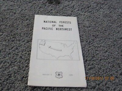 1951 NATIONAL FORESTS OF THE PACIFIC NORTHWEST. Color map of Region 6