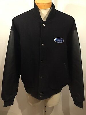Ford Motor Company 100 Years Anniversary Wool Leather Jacket Mens BNWOT XL B3