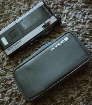 Clean Vintage Dictaphone Voice Processor 1254 With Case - Needs Work