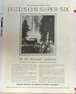 1921 magazine ad for Hudson - Super Six, Ease of Operation comes first
