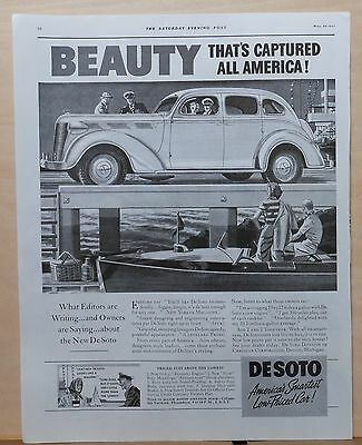 1937 magazine ad for DeSoto - Beauty That's Captured All America,