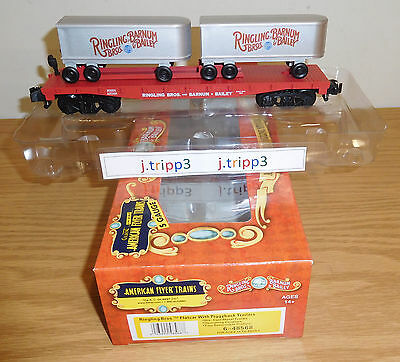 Lionel American Flyer 48568 Ringling Bros. Circus Flatcar Trailers Train S Gauge
