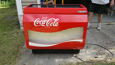 Coca Cola Coke slide top machine Fridge Beverage air