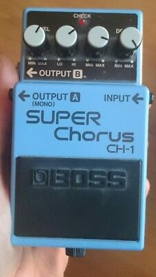BOSS CH-1 Super Chorus Guitar Effects Pedal boxed with Instructions