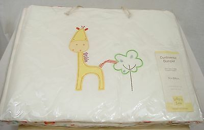 GIRAFFE & ELEPHANT COT BUMPER - 50 x 200cm -SAFARI LOLLIPOP LANE - BABY NURSERY