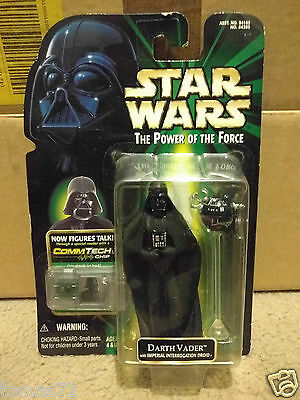 Star Wars Power Of The Force Commtech - Darth Vader Interrogation - Moc Sealed