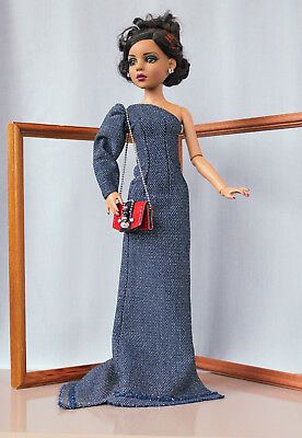 "Tonner Ellowyne Wilde outfit ""Starry"" handmade Body 16"" fashion doll blue dress"
