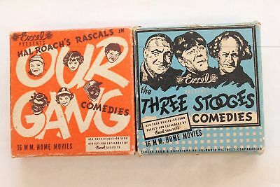 Vintage Excel 16 MM  Three Stooges & The Little Rascals Movie Film. UNTESTED.