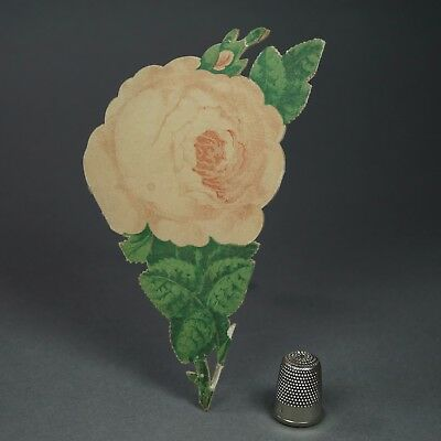 Antique 19th Century Victorian Folding Paper Rose Novelty Souvenir Bath England