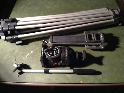 Sachtler Tripod Fluid Head With Plate Spreader & Panhandle Complete Set🎥🎥