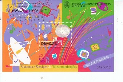 92205 / Macao ** MNH Block Hologramm Space
