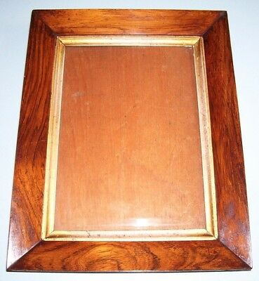Antique Georgian Rosewood Sully Profile Gilt Slip Picture Frame Old Glass C.1830