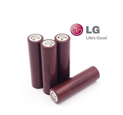 4 x Genuine LG HG2 18650 3000mAh 30A 3.7V High Drain Rechargeable Battery Vape