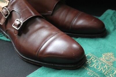 THE PRAYER Crockett & Jones C&J Lowndes Brown Oak Double Monk Strap Cap Toe 9E