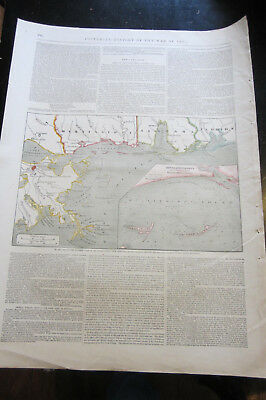 New Orleans - Map of Southern Coast in 1862, Civil War map ( 16 3/4 X 23 3/4 )