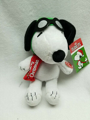 "Peanuts Snoopy Red Baron 9"" Plush Musical A Charlie Brown Christmas New w/ Tags"